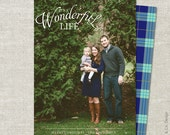Tartan Plaid Christmas Card | Photo Christmas Card | Photo Holiday Card | Double Sided | Printable JPG PDF - Classic It's a Wonderful Life