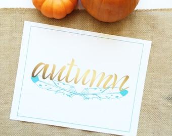 Printable Fall Thanksgiving Typography Wall Art (Set of 3)