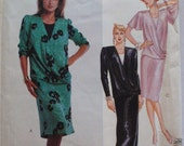 McCall's 2881 - 1980's Draped Front Dress Sewing Pattern - Size 16, Bust 38