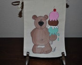 Birthday Gift Muslin Hand Painted Gift Wrap Treat Bags