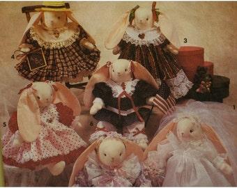 "Stuffed Bunny Pattern, Seasonal Wardrobe, Bridal Gown, Party Dresses, Pantaloons, Faith Van Zanten, Simplicity No.7707 UNCUT Size 14"" 35.5cm"
