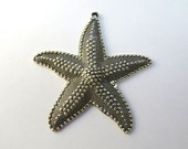 Silver Starfish Pendant/Large Starfish/Ocean Pendant/Silver Starfish Charm/Beach Pendant