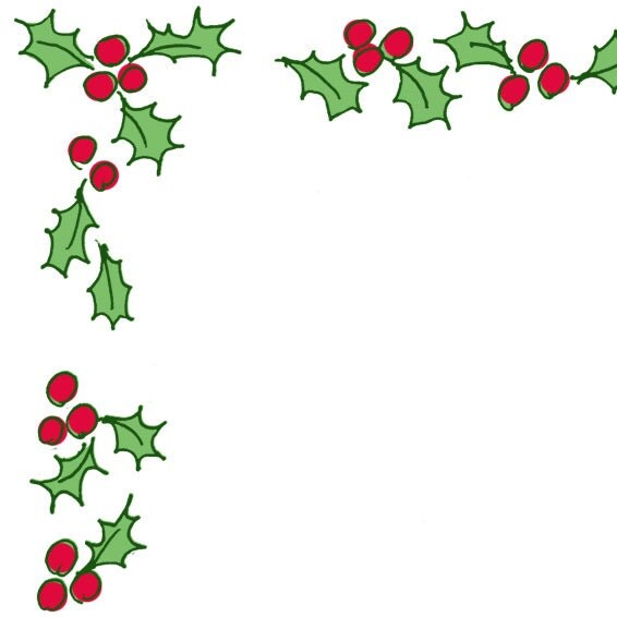 Kerstranden Randen Voor Kerstkaarten Digitale Download