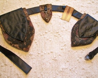 Elven Leaf Tribal Boho Festival Pocket Utility Belt