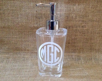 Monogram Soap Dispenser - Personalized Lotion Holder
