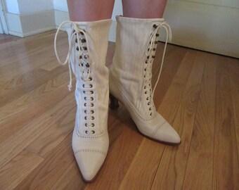 """1990s """"Stuart Weitzman"""" Victorian Style Boot"""