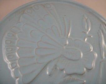Frankoma Butterfly Trivet Blue