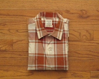 mens vintage madras shirt