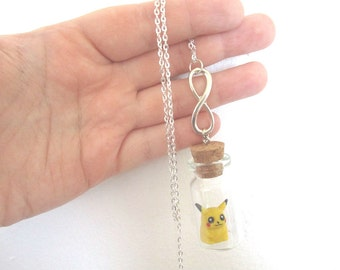 Pokémon Necklace - PIKACHU Forever - Pokemon GO Pokemon bottle jewelry