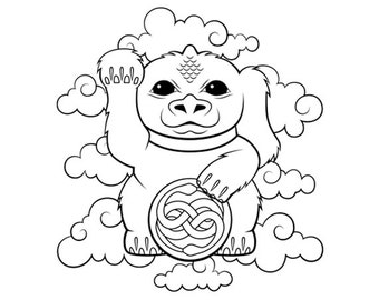 neverending story coloring pages | Falcor luck dragon | Etsy