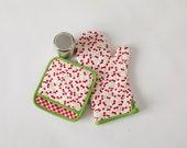 Retro Cherries Oven Mitt & Pot Holder