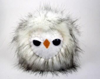 Woodland Stuffed Animal Stuffed Owl Toy Stuffed Animal Sleepy Owl Cute Kawaii Plush Owl Plushie - Medium Size  6 inches Snuggly Faux Fur Toy