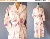 30%OFF 1940s Robe / Country Garden Robe / 40s