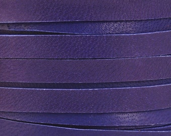 Leather Lace-5mm Deerskin Lace-Purple-2 Yards