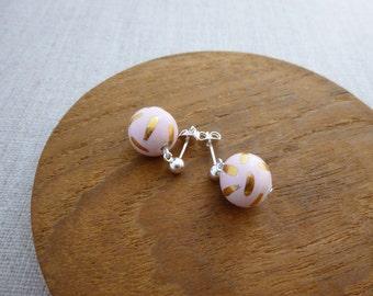 Dashed Ball Stud Earrings