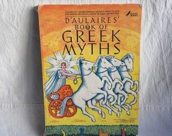 Vintage greek myths book  D'aulaires' book of Greek Myths