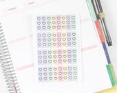 32 GLOSS Heart Checklist 3 Tasks Pastel Themed Erin Condren Life Planner Stickers