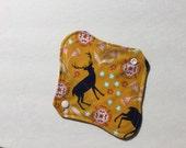 """Cloth Panty Liner Organic Cotton Fleece 8"""" Deer"""