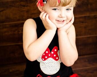 Miss Minnie Dazzle Feather Tank Dress...halloween