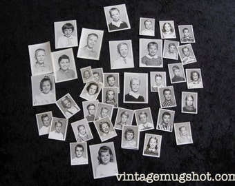 41  Fifties and Sixties Interesting School Photographs With Names Scrapbooking Reuse Boys and Girls