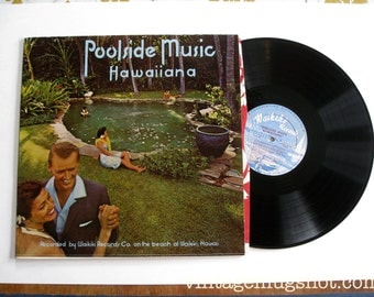 POOLSIDE MUSIC Lp Exc HAWAII Waikiki Records Hawaiiana With the Modern Touch Orig
