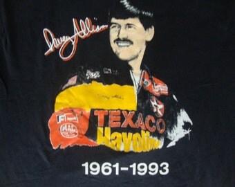 Vintage 90's Davey Allison Texaco Nascar Racing winston 500 miller 400 ac delco pepsi 1993 Memorial NEW T shirt L