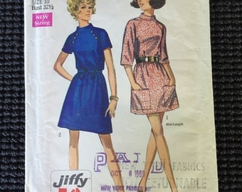Vintage Simplicity 8335 Misses Dress Sewing Pattern Size 10 UNCUT Simple To Sew