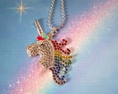Kids Jewelry Unicorn Pendant Little Girls Necklace