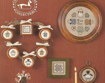 """Vintage Country Goose Collection """"Friends Count"""" Cross Stitch leaflet    Clearance ITEM"""