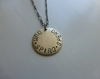 latin necklace men or women Dum Spiro Spero 'While I Breathe, I Hope' gender neutral  inspirational saying healing recovery jewelry loss