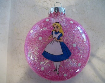 Single Ornament - Alice in Wonderland Inspired