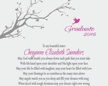 Graduation Gift for Son-Daughter-Granddaughter-Grandson-Niece-Nephew-Sister-Brother-Best Friend-Personalized Print-May God Walk Beside You