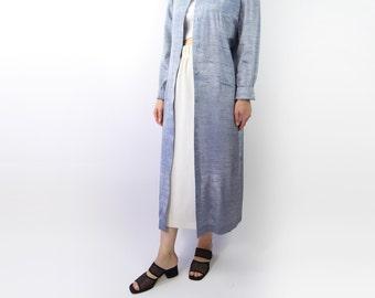 VINTAGE Ice Blue Dress Silk Maxi Long
