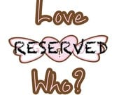 Reserved for Aila