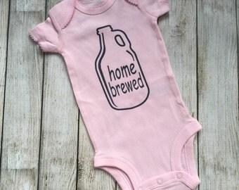 Home Brewed, Pink, Onesie,  bodysuit, girls, children clothing, baby, tops,shirt