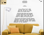 "Star Wars Decal ""A New Hope"" Full Crawl quote : 'A long time ago in a galaxy far far away'. Episode 4 decor"