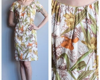 1950s Dress // Lily of the Valley Dress // vintage 50s sheath dress