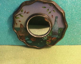 Mini Wine and Vine Food Themed Decorative Mirror