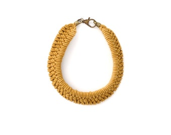 Tomales Necklace in Hand Dyed Golden Ochre