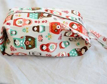 nesting dolls shawl project bag
