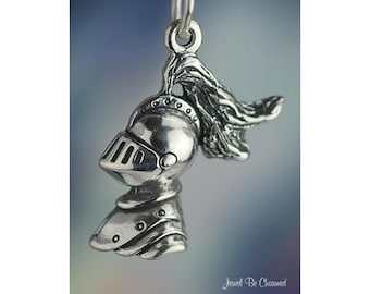Sterling Silver Knight Charm Medieval Times Renaissance Fair Solid 925