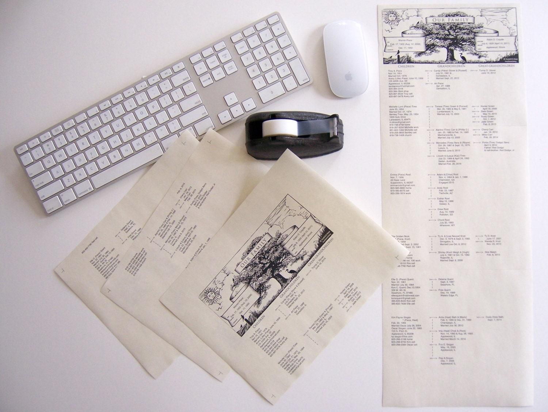 family tree descendant chart printable pdf file form for