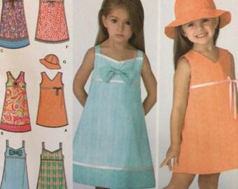 Little girl sundress pattern, Simplicity 3859, Size A