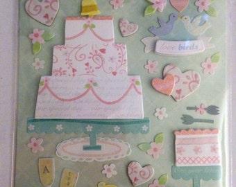 K & Company LLO  -- Wedding Cake --  NEW --  dimensional stickers  (#1820)