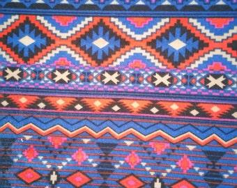 Tribal print on blue