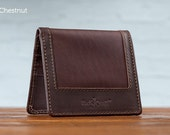 The Uptown Leather Wallet -Chestnut