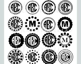 svg clipart,. Monogram Frame clipart, silhouette black frame clipart, vector frame clipart, circle monogram frame SVG,PNG,EPS,cut file frame