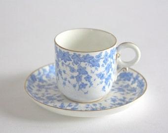 Vintage Bone China Demitasse Espresso Set, Cup and Saucer