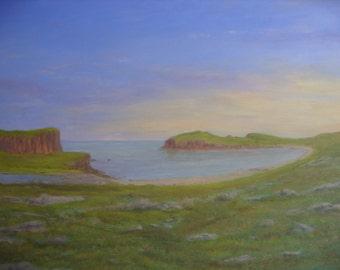 Shetland ~ Hams of Muckle Roe ~ oil painting ~Scotland
