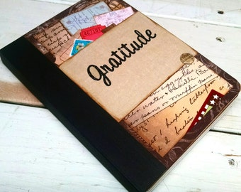 Gratitude Journal Notebook with Lined Pages Keepsake Gift for Her Gift for Him Hostess Gift